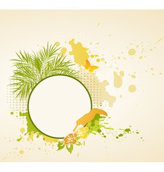 Summer tropical background vector