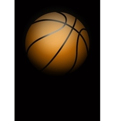Dark background of basketball vector