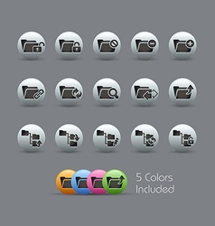Folder Icons 1 Pearly Series vector image