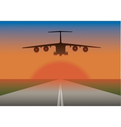An airplane landing vector