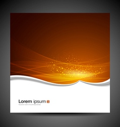 Banners modern wave orange background vector image