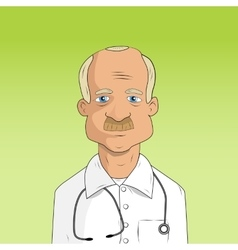 Male doctor in lab coat vector