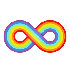 Abstract rainbow infinity vector