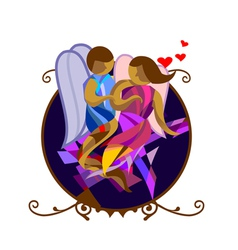 Abstract couple vector image