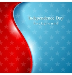 Abstract wavy usa stars background vector image vector image