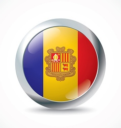 Andorra flag button vector image vector image