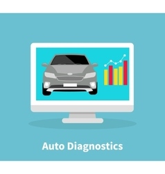 Auto diagnostics monitor flat concept vector