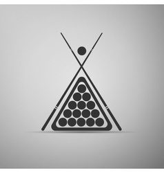 Billiard cue and balls icon vector