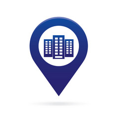 Building map pointer icon marker gps location vector