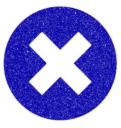 Cancel icon grunge watermark vector