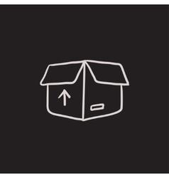 Carton package box sketch icon vector image