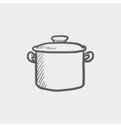 Casserole sketch icon vector