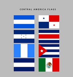 Central america flags vector