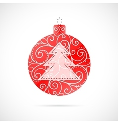 Christmas decoration as symbol for winter holidays vector image vector image