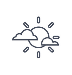 clouds and sun weather icon climate forecast vector image
