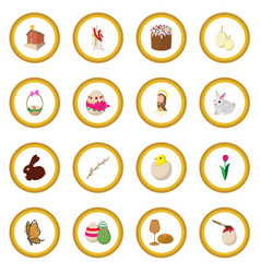 Easter cartoon icon circle vector