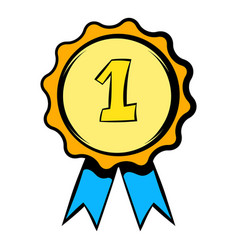 First place rosette icon icon cartoon vector