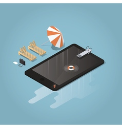 Isometric waterproof device vector