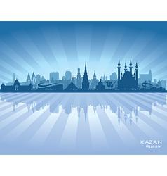 Kazan Russia skyline city silhouette vector image vector image