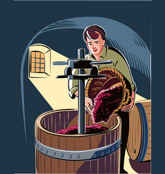Man in a cellar vector