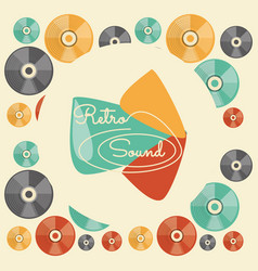 Retro cd music media technology vector