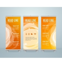 Roll Up Banner Stand Design Template vector image vector image