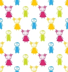 Seamless Background with Smiling Kids vector image vector image