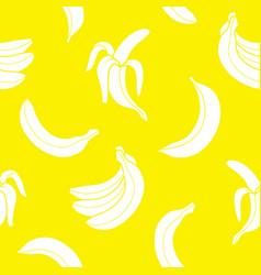 seamless pattern banana vector image
