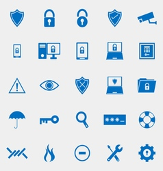 Security color icons on grey background vector image