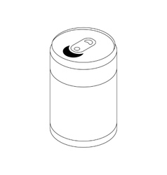 Soda can icon isometric 3d style vector