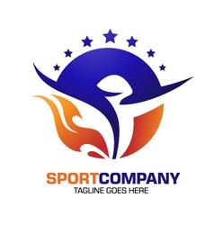 Sport power spirit fitness logo vector