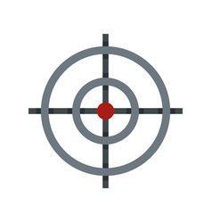 target icon flat style vector image