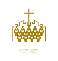 The church of god sings to jesus christ a song vector