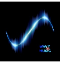 Wave shaped sound waveform vector image vector image