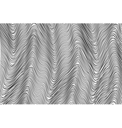 Wavy stripes background vector image vector image