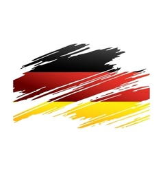 Flag germany in the form traces brush vector