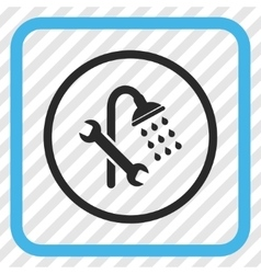 Shower Plumbing Icon In a Frame vector image