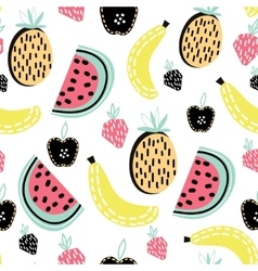 Modern fruit seamless pattern Great for kids vector image