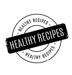 Healthy recipes rubber stamp vector