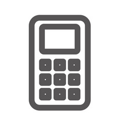 grayscale contour with basic calculator vector image