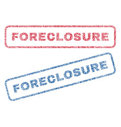 Foreclosure textile stamps vector
