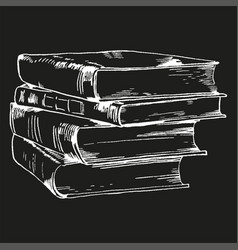 books and pics albums vector image