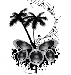 Musical grunge background vector