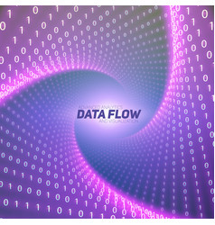 Data flow visualization violet big vector