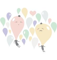 Romantic date of soap bubbles vector