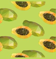 Geometric polygonal exotic food seamless pattern vector