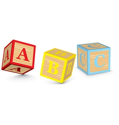 Word abc written with alphabet blocks vector