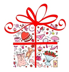 Gift tor girl vector image