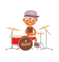 Hip hop drummer vector
