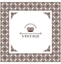 Vector vintage decor frame ornament retro vector
